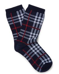 Burberry - Vintage Check Cotton Blend Socks - Lyst