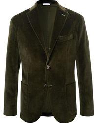 Boglioli - Emerald Unstructured Stretch-cotton Velvet Blazer - Lyst