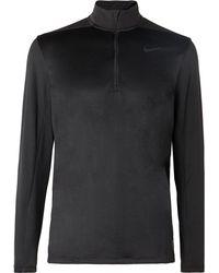 Nike - Stretch Mesh-panelled Dri-fit Half-zip Top - Lyst