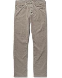 Bottega Veneta | Slim-fit Stretch-cotton Corduroy Trousers | Lyst