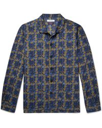 Nonnative - + Liberty Camp-collar Floral-print Cotton-blend Shirt - Lyst