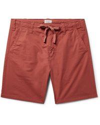 Hartford - Slim-fit Cotton-twill Drawstring Shorts - Lyst