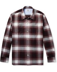 Freemans Sporting Club - Camp-collar Checked Cotton-flannel Shirt - Lyst