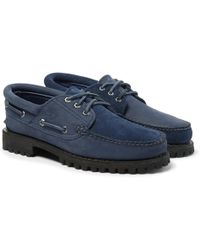 Timberland - + Engineered Garments Suede And Nubuck Boat Shoes - Lyst