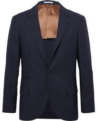 Brunello Cucinelli - Navy Feather Weight Cashmere-twill Unstructured Blazer - Lyst