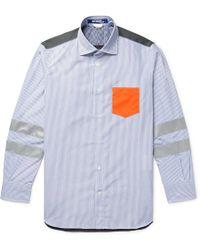 Junya Watanabe - Panelled Cotton-poplin And Ripstop Shirt - Lyst