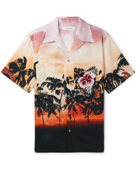 Valentino - Camp-collar Embellished Printed Cotton-poplin Shirt - Lyst