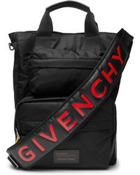 Givenchy - Logo-print Leather-trimmed Shell And Mesh Bag - Lyst
