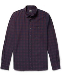 Todd Snyder - Button-down Collar Buffalo Checked Cotton-poplin Shirt - Lyst