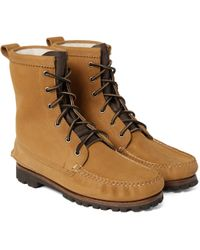 Quoddy - Grizzly Shearling-lined Chamois Nubuck Boots - Lyst