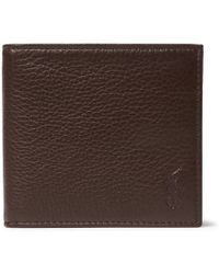 Polo Ralph Lauren | Grained-leather Billfold Wallet | Lyst