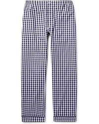 Sleepy Jones - Marcel Gingham Cotton Pyjama Trousers - Lyst