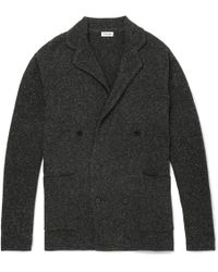 Camoshita - Double-breasted Mélange Wool-blend Cardigan - Lyst