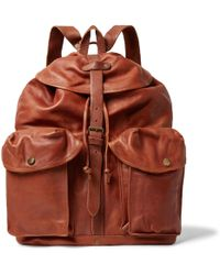 RRL - Riley Leather Backpack - Lyst