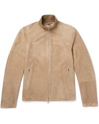 Dunhill - Suede Track Jacket - Lyst