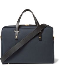 Miansai - Leather-trimmed Cotton-canvas Briefcase - Lyst