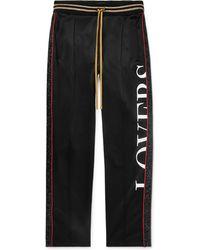 Amiri - Embellished Printed Jersey Drawstring Trousers - Lyst