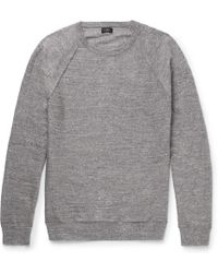 Two-tone Mélange Knitted Sweater Boglioli Sast Cheap Price hEh2PnLsY