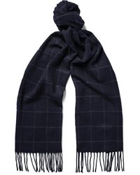 NN07 - Checked Wool And Cashmere-blend Scarf - Lyst