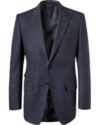 Tom Ford - Navy O'connor Slim-fit Prince Of Wales Checked Wool Suit Jacket - Lyst