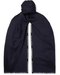 Alexander McQueen - Logo-embroidered Cashmere And Silk-blend Jacquard Scarf - Lyst