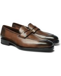 Tom Ford - Wessex Burnished-leather Penny Loafer - Lyst