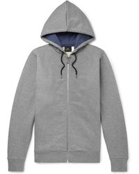 PS by Paul Smith - Organic Loopback Cotton-jersey Zip-up Hoodie - Lyst