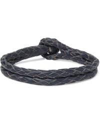 RRL - Braided Leather Bracelet - Lyst