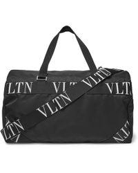 Valentino - Logo Webbing-trimmed Nylon Duffle Bag - Lyst