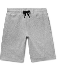 Theory - Relax Mélange Terry Drawstring Shorts - Lyst