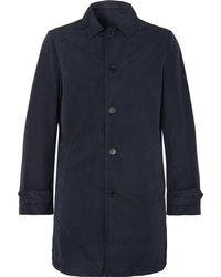 Aspesi - Slim-fit Garment-dyed Shell Trench Coat - Lyst
