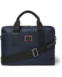 Paul Smith - Leather-trimmed Canvas Briefcase - Lyst