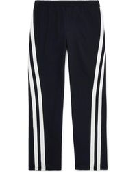 Valentino - Striped Virgin Wool Track Trousers - Lyst