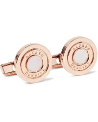 Dunhill - Gyro Rose Gold-plated Mother-of-pearl Cufflinks - Lyst