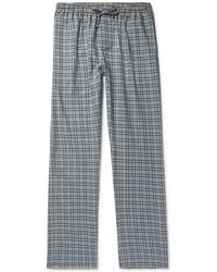 Zimmerli - Checked Cotton And Wool-blend Flannel Pyjama Pants - Lyst