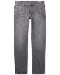 Brunello Cucinelli - Washed Selvedge Denim Jeans - Lyst