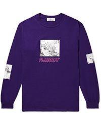 Flagstuff - + Video Girl Printed Cotton-jersey T-shirt - Lyst