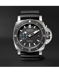 Officine Panerai - Luminor Submersible 1950 Amagnetic 3 Days Automatic 47mm Titanium And Rubber Watch - Lyst