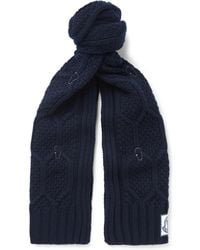 Moncler Gamme Bleu - Cable-knit Virgin Wool Scarf - Lyst