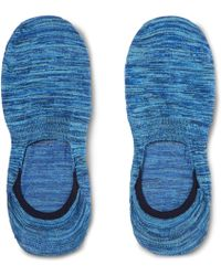 Pantherella - Invisible Space-dyed Stretch Egyptian Cotton-blend No-show Socks - Lyst