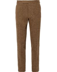 Polo Ralph Lauren - Tan Slim-fit Herringbone Wool Suit Trousers - Lyst