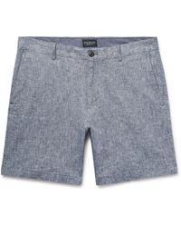 Club Monaco - Baxter Stretch Linen And Cotton-blend Shorts - Lyst