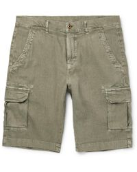 Loro Piana - Stretch-linen And Cotton-blend Cargo Shorts - Lyst