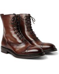 Berluti - Eris Bergen Shearling-lined Leather Boots - Lyst