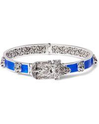 Gucci   Enamelled Sterling Silver Bracelet   Lyst