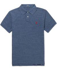 Polo Ralph Lauren - Slim-fit Mélange Cotton-piqué Polo Shirt - Lyst