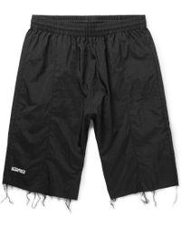 Vetements - + Reebok Slim-fit Frayed Shell Shorts - Lyst
