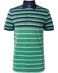 RLX Ralph Lauren - Striped Tech-piqué Golf Polo Shirt - Lyst