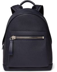 Tom Ford - Full-grain Leather Backpack - Lyst