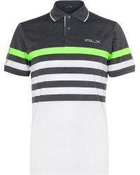RLX Ralph Lauren - Striped Stretch-jersey Golf Polo Shirt - Lyst